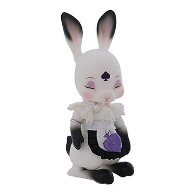 MEESock 1/12 Cute Small Rabbit BJD Dolls 9cm 3.5inch Cosplay SD Doll DIY Toys, with Clothes Makeup, Two Styles are Available, Children's Creative Toys,Eyes Closed