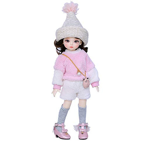 YILIAN Delicate BJD Doll 1/6 10inch Ball Joint SD Dolls Fashion Doll with Clothes Wig Hat Sock Shoes for Child Playmate Girl DIY Toy