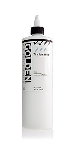 Golden High Flow Acrylic Paint, 16 Ounce, Titanium White