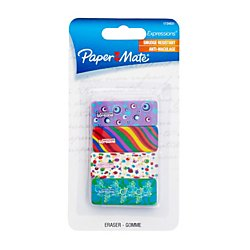Paper Mate(R) Expressions Latex Free Mini Erasers, Assorted, Pack Of 4