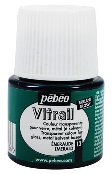 Vitrail Glass Paint 45ML Bottles (Emerald)