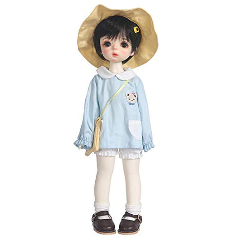 HMANE BJD Doll Clothes, Kindergarten Little Bear Clothes Set for 1/6 BJD Dolls - (Blue) No Doll