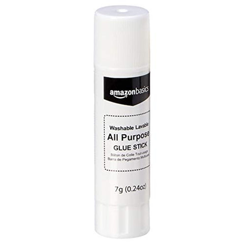 AmazonBasics All Purpose Bulk School Glue Sticks, Washable, 0.24-oz Stick, 30-Pack