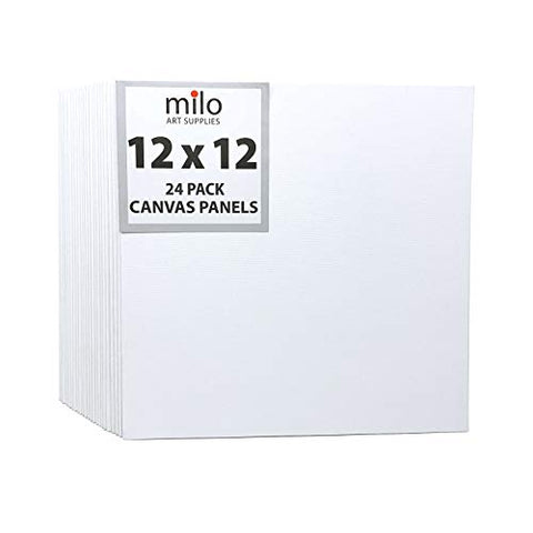 "MILO | 12 x 12"" 24 Pack Canvas Panels 
