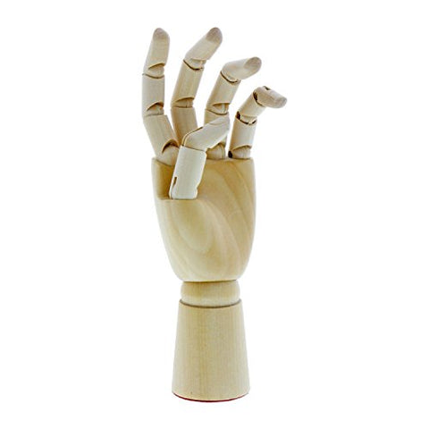 "US Art Supply Artist Drawing Hand Manikin Articulated Wooden Mannequin (7"" Left Hand)"