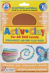 Bulk Buy: Activa Activ Clay Air Dry 1 Pound Terra Cotta 161A (2-Pack)