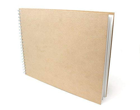 "Artway Enviro (Recycled) Spiral Sketch Book/Drawing Pad - 14"" x 11"" Landscape - 170gsm / 105lb - 100% Recycled Hardcover Sketchbook"