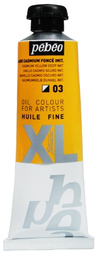 Pebeo Studio Xl Fine Oil 37-Milliliter, Cadmium Yellow Deep Hue
