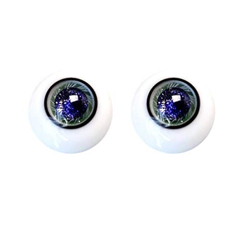 HMANE BJD Dolls Eyes, 14mm Glass Eyeball for BJD Dolls - Peachick (No Doll)