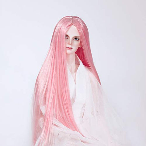 HMANE BJD Doll Wig, Centre Parting Long Srtaight Hair Wig for 1/3 BJD Dolls - (Grapefruit Red) (No Doll)