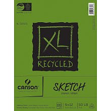 Canson XL-Series Recycled Sketch Pad - 9x12 inch