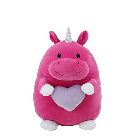 Squeeze With Love Animal Adventure Super Puffed Plush | Unicorn, Pink