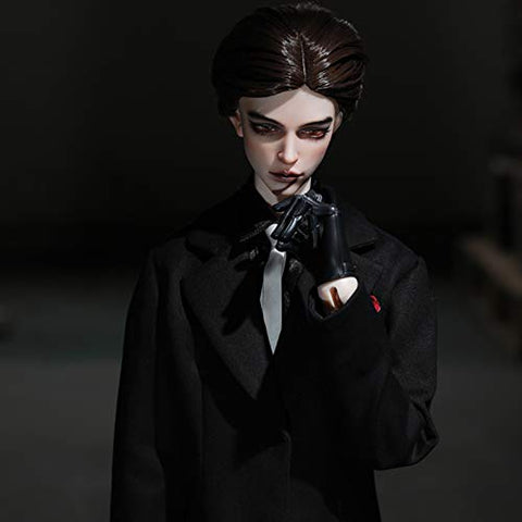 MEESock 71.5cm Handsome Man BJD Doll 1/3 SD Doll 28.1inch Ball Jointed Dolls Handmade Simulation Doll Toy, with Clothes Shoes Wig Makeup, High-Grade Resin Material