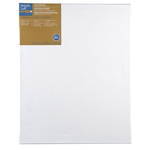 "Artist's Loft Necessities Canvas Value Pack, 16"" x 20"""