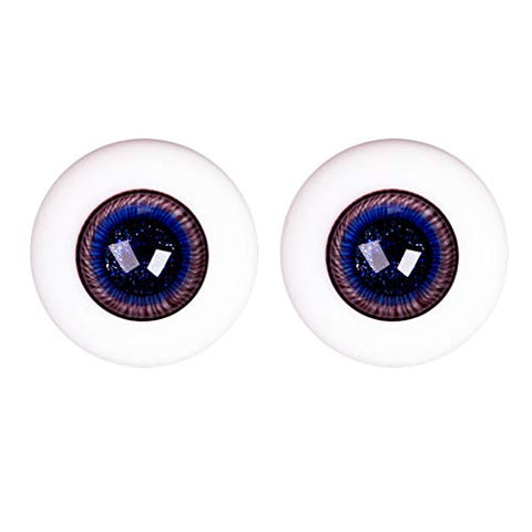 HMANE BJD Dolls Eyes, 16mm Glass Eyeball for BJD Dolls - Purple Eddy (No Doll)