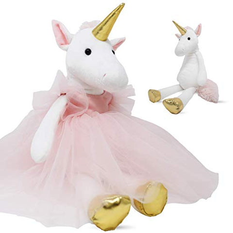 Lunaki Unicorn Stuffed Animal Plush Toy in Pink Tutu Dress - Premium Gift for Girls, Great Toys for Birthday, Baby Shower & Christmas - 19 inches