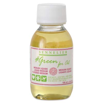 Sennelier Green for Oil Solvent-Free Universal Medium, 100ml (10-135205-100)
