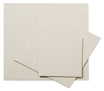 Pebeo 20 x20cm Natural Linen Canvas Board Clear Primed