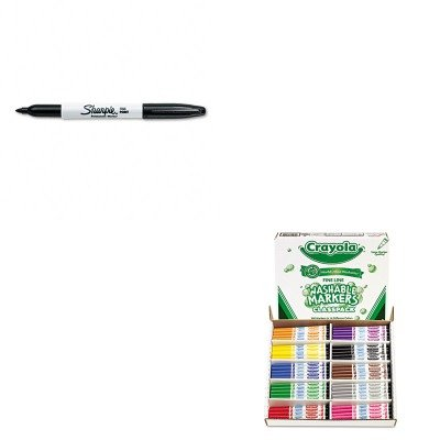 KITCYO588211SAN30001 - Value Kit - Crayola Washable Classpack Markers (CYO588211) and Sharpie