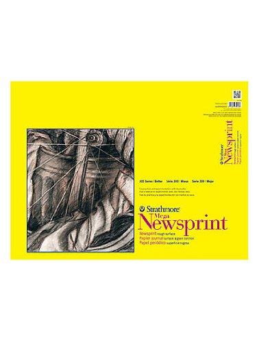 Strathmore 300 Series Newsprint Paper Pads rough 60 sheets 18 in. x 24 in. [PACK OF 2 ]
