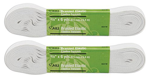 "Braided Elastic 3/8""X6yd-White"
