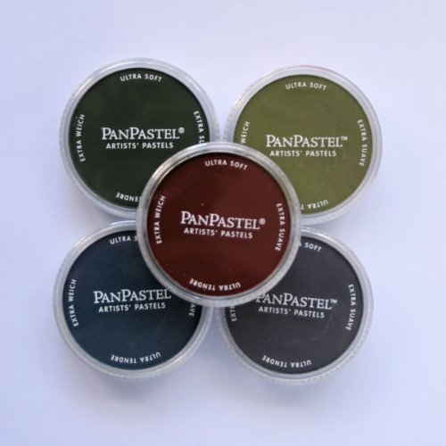 Pan Pastel Artists' Painting Pastels 5 Colour Set - Extra Dark Shades