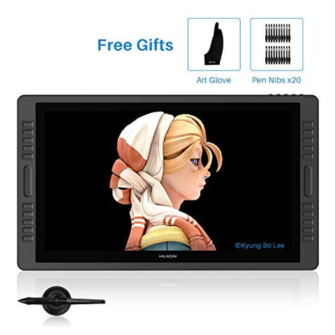 Huion Kamvas Pro 22 21.5 Inch Upgraded Battery-Free Pen Display Graphics Drawing Tablet 8192 Levels