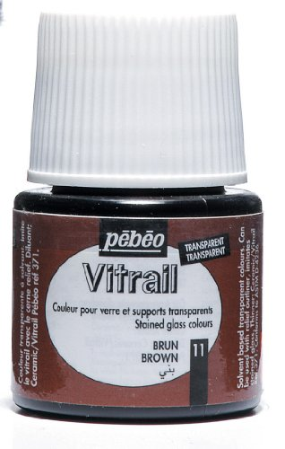 Pebeo Vitrail Stained Glass Effect Glass Paint 45-Milliliter Bottle, Brown