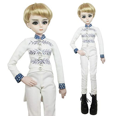 EVA BJD Prince Charming 1/3 BJD Doll 24inch Male Boy SD Doll Ball Jointed Dolls + Makeup + Clothes + Pants + Shoes + Wigs + Doll Accessories