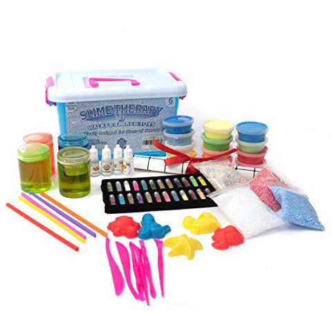 Slime Therapy Kit (Buy With Confidence Stored in US Warehouses Since August 2019) - Crystal Slime, Foam Slime, Magic Sand, Air Dry Clay, Accessories, Macaroon Balls, Glitters, Fragrances, Art Craft