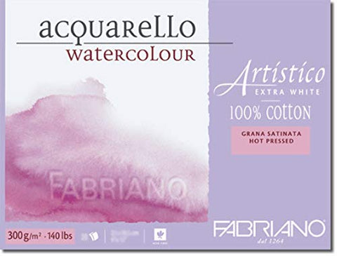 Fabriano - 71-00301218 - AEW BL 4CO Watercolour Paper - 12.5 x 18cm Extra White