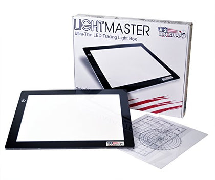 "US ART SUPPLY Lightmaster USB Powered 18.75"" Diagonal Professional Artist Size (A4) 9""x12"" LED"