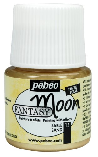 Pebeo 167015CAN Fantasy Moon Paint 45ml, Sand