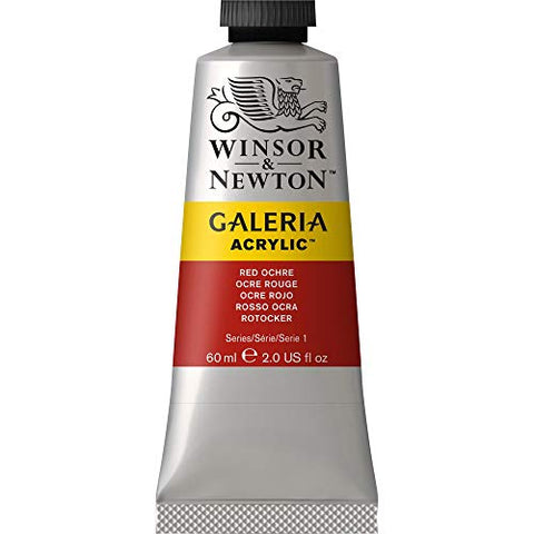 Winsor & Newton Galeria Acrylic Paint, 60ml Tube, Red Ochre