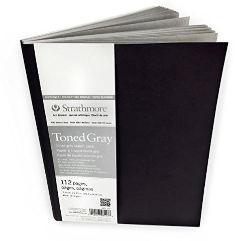 Strathmore 400 Series Toned Gray Sketchbook – Soft Cover – 112 Pages – 19.7 x 24.8cm – 118gsm