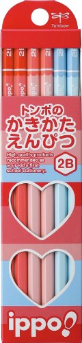 Tombow Ippo, Wood Pencil, 2B, Pink/Blue, 12-Pack