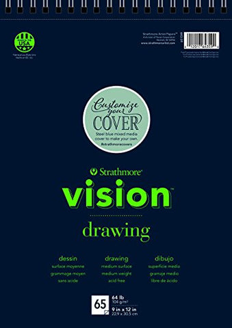 "Strathmore (643-61 Vision Drawing Pad, 11""x14"", 65 Sheets"