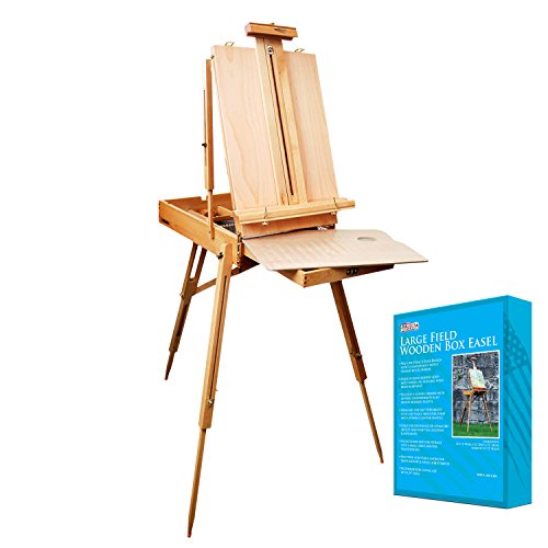 "U.S. Art Supply Coronado French Style Easel & Sketchbox with 12"" Drawer, Wooden Pallete &"