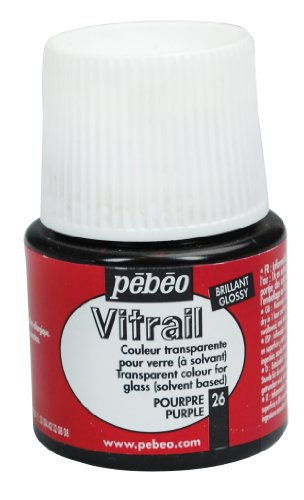 Pebeo Vitrail Stained Glass Effect Glass Paint 45-Milliliter Bottle, Purple