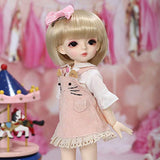 YILIAN Cosplay Fashion Dolls 1/6 BJD Doll 25cm 10 Inch Ball Jointed SD Dolls DIY Toys with Clothes Shoes Wig Makeup Best Gift for Girls