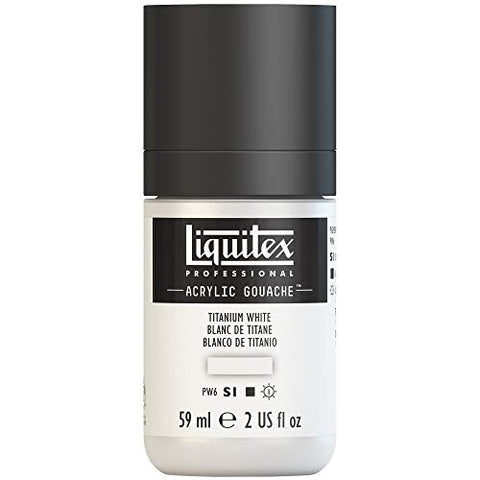 Liquitex Professional Acrylic Gouache 2-oz bottle, Titanium White