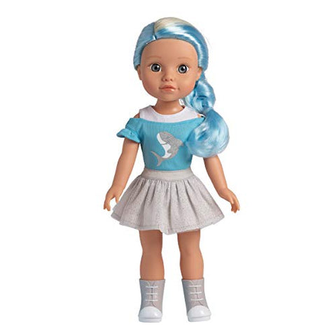 Adora Be Bright Doll Melissa - Shark, Hair Color Changes in The Sun, for Kids Age 3+