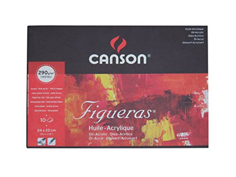 Canson : Figueras Oil & Acrylic Paper : Pad : 24X33Cm (9X13In)