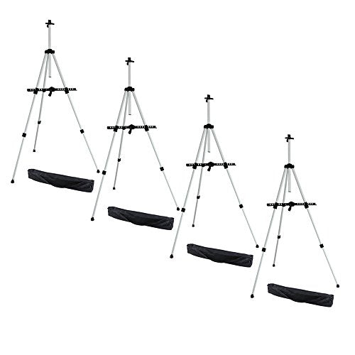 "Ohuhu 4-pack 66"" Tall Lightweight Aluminum Field Easel - Great for Table-Top or Floor Use - FREE"