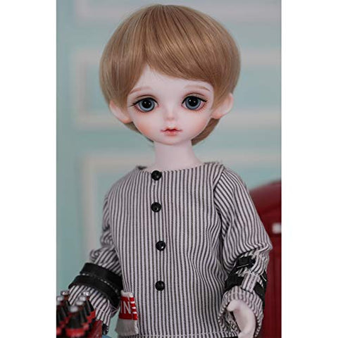 MEESock Exquisite Boy BJD Doll 1/6 SD Dolls 10.2 Inch Ball Jointed Doll DIY Toys, with Striped Clothes Pants Shoes Wig Makeup, Best Gift for Birthday