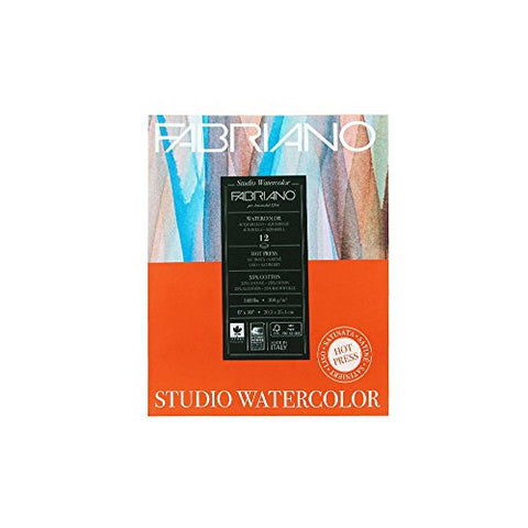 Savoir Faire Fabriano Studio Watercolor Pad 8X10 HP 300G