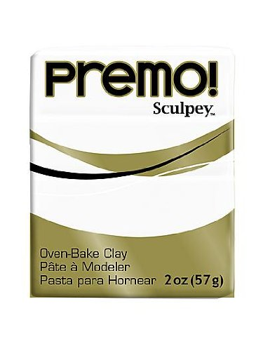 Sculpey Premo Premium Polymer Clay white 2 oz. [PACK OF 5 ]