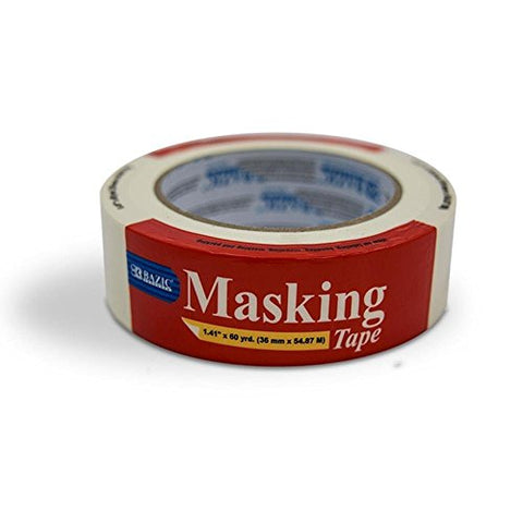 Bazic (60 Yards) General Purpose Masking Tape (Pack Of 24)