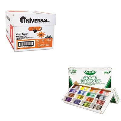 KITCYO523348UNV21200 - Value Kit - Crayola Classpack Crayons w/Markers (CYO523348) and Universal