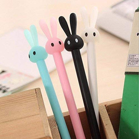 12 Pack Bunny Rabbit Gel Ink Pen 0.5mm Kawaii Student Office Supplies